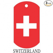 Switzerland Flag Dog Tags - 3 Pieces