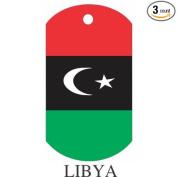Libya Flag Dog Tags - 3 Pieces