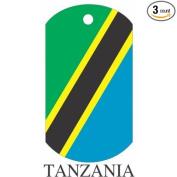 Tanzania Flag Dog Tags - 3 Pieces