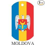 Moldova Flag Dog Tags - 3 Pieces