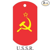 USSR Flag Dog Tags - 3 Pieces