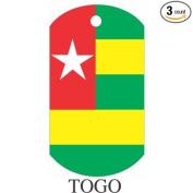 Togo Flag Dog Tags - 3 Pieces