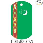 Turkmenistan Flag Dog Tags - 3 Pieces