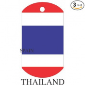 Thailand Flag Dog Tags - 3 Pieces