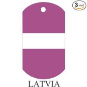 Latvia Flag Dog Tags - 3 Pieces