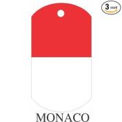 Monaco Flag Dog Tags - 3 Pieces