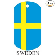 Sweden Flag Dog Tags - 3 Pieces