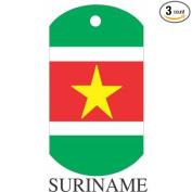 Suriname Flag Dog Tags - 3 Pieces