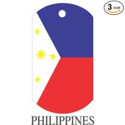 Philippines Flag Dog Tags - 3 Pieces