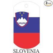 Slovenia Flag Dog Tags - 3 Pieces