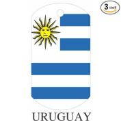Uruguay Flag Dog Tags - 3 Pieces