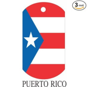 Puerto Rico Flag Dog Tags - 3 Pieces
