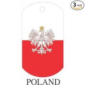 Poland Flag Dog Tags - 3 Pieces