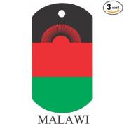 Malawi Flag Dog Tags - 3 Pieces