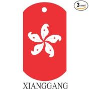 Xiang Gang Flag Dog Tags - 3 Pieces