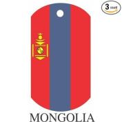Mongolia Flag Dog Tags - 3 Pieces