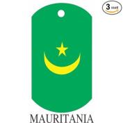 Mauritania Flag Dog Tags - 3 Pieces