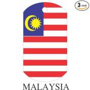 Malaysia Flag Dog Tags - 3 Pieces