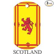 Scotland1 Flag Dog Tags - 3 Pieces