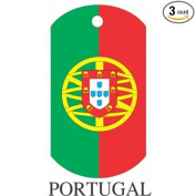 Portugal Flag Dog Tags - 3 Pieces