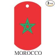 Morocco Flag Dog Tags - 3 Pieces