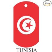 Tunisia Flag Dog Tags - 3 Pieces