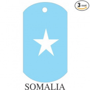 Somalia Flag Dog Tags - 3 Pieces