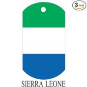 Sierra Leone Flag Dog Tags - 3 Pieces