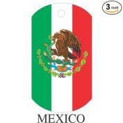 Mexico Flag Dog Tags - 3 Pieces