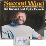 Bill Russell Autographed/Signed Second Wind Book