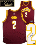 Kyrie Irving Autographed/Signed Cleveland Cavaliers Adidas Swingman Red Alternate NBA Jersey - Panini