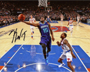 Kemba Walker Charlotte Hornets Autographed 20cm x 25cm Lay-Up vs. Knicks Photograph - Fanatics Authentic Certified