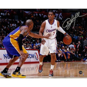 Chris Paul Signed vs Kobe Bryant Horizontal 8x10 Photograph Signed in Silver