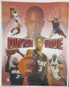 Dwyane Wade Signed 'Flash' Authentic Autographed Giclee Canvas #D12521 - PSA/DNA Certified - Autographed NBA Art