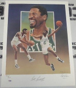 Bill Russell Signed 18x24 Celtics Lithograph COA Christopher Paluso /600 - PSA/DNA Certified - Autographed NBA Art