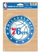NBA Philadelphia 76ers 15cm x 23cm Chrome Magnet