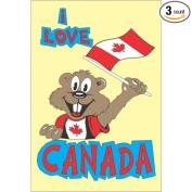 I love Canada Custom Refrigerator Fridge Magnets - 3 Pieces