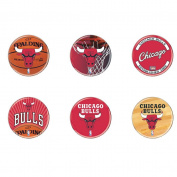 NBA Chicago Bulls WCR33058210 Round Button (6 Pack), 5.1cm
