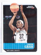 """SWIN CASH 5120cm 1ST EVER PRINTED"""" SPORTS ILLUSTRATED NEW YORK LIBERTY CARD! 1 of 9!"""