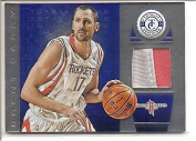 Brent Barry Houston Rockets 2013-14 Panini Silver Totally Certified 2-Colour Jersey Rookie Basketball Card #20/25