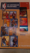 NBA 32 Valentine Trading Cards, Includes 8 Venticular Designs