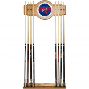 NBA Philadelphia 76ers Cue Rack with Mirror, One Size, Brown