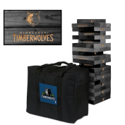 Minnesota Timberwolves Onyx Stained Giant Wooden Tumble Tower Game