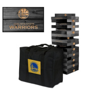 Golden State Warriors Onyx Stained Giant Wooden Tumble Tower Game