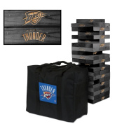 Oklahoma City Thunder Onyx Stained Giant Wooden Tumble Tower Game