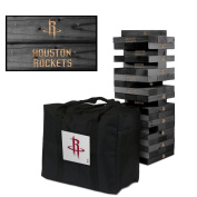 Houston Rockets Onyx Stained Giant Wooden Tumble Tower Game