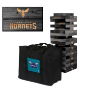 Charlotte Hornets Onyx Stained Giant Wooden Tumble Tower Game