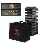 Toronto Raptors Onyx Stained Giant Wooden Tumble Tower Game