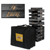 Los Angeles Lakers Onyx Stained Giant Wooden Tumble Tower Game