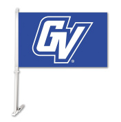 NCAA Grand Valley State Lakers Car Flag with Wall Bracket, Blue, One Size